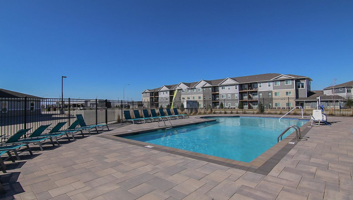 Resort-style swimming pool at Autumn Ridge in Waukee, Iowa