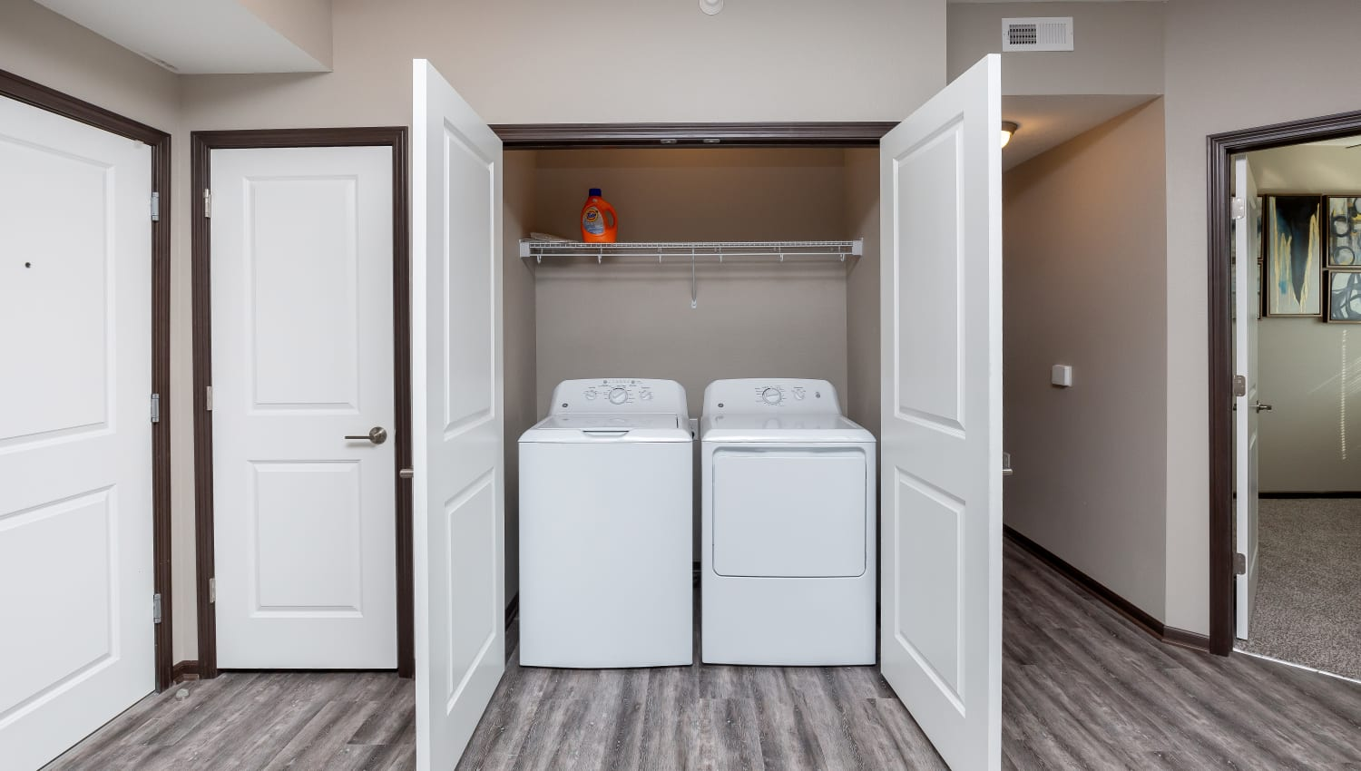 Washer and dryer at Autumn Ridge in Waukee, Iowa