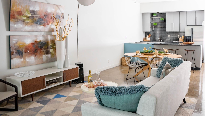 Living room at Mosaic Dallas in Dallas, Texas