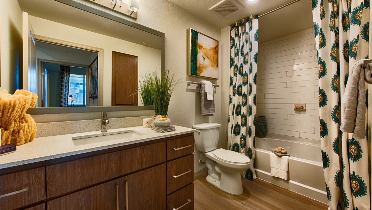 Bathroom at Ocio Plaza Del Rio in Peoria, Arizona