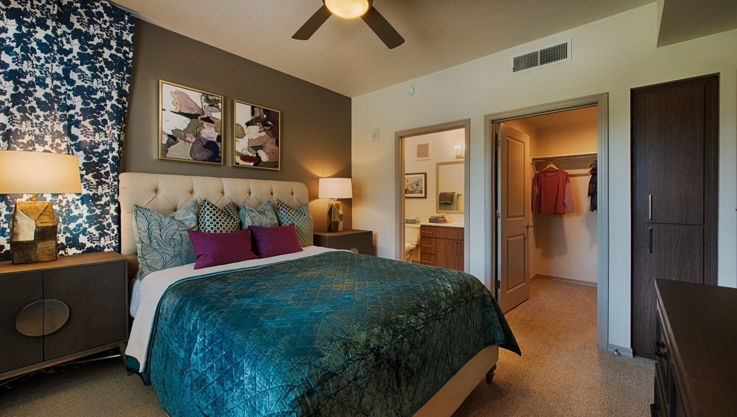 Bedroom at Ocio Plaza Del Rio in Peoria, Arizona
