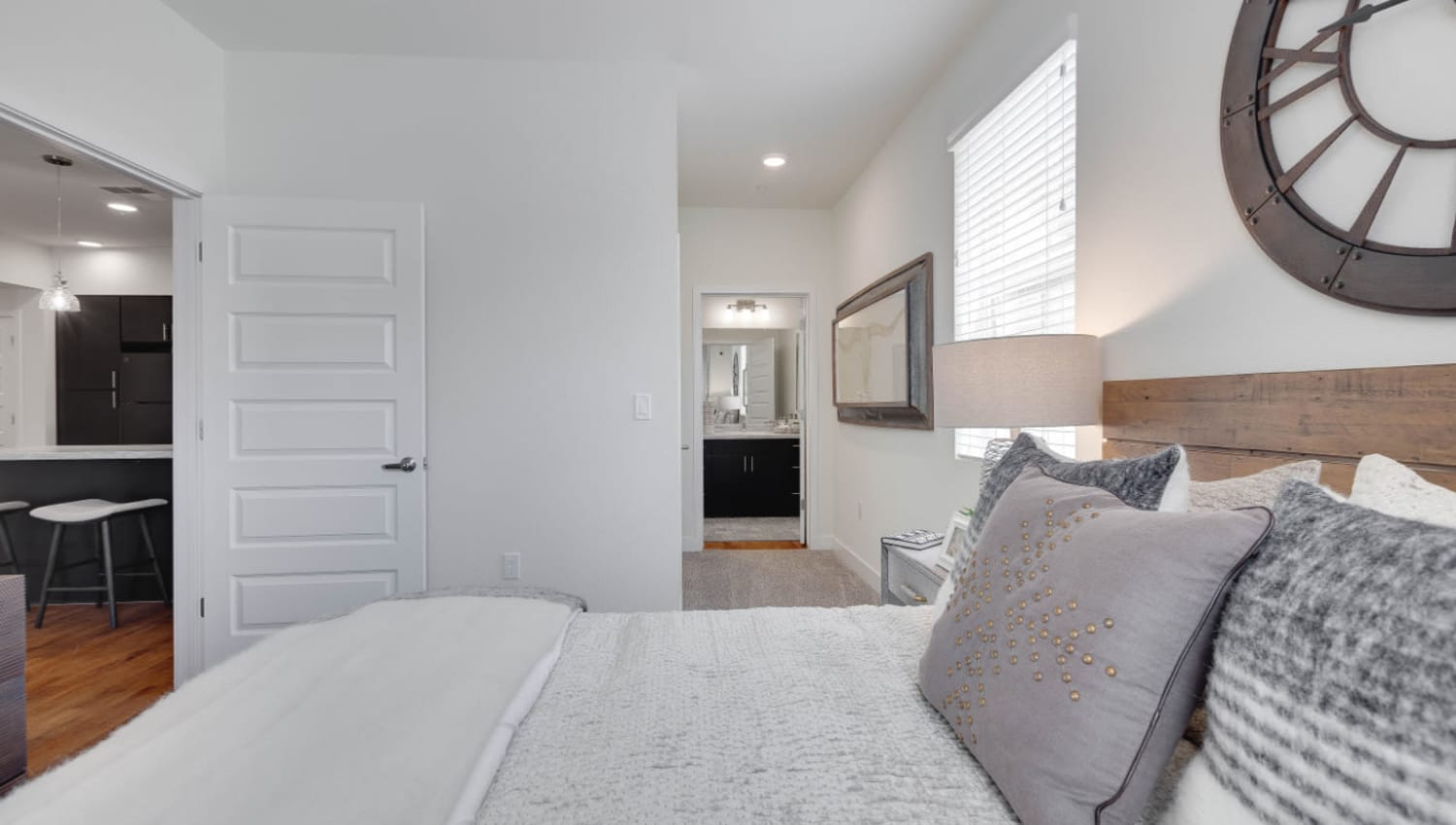 Well-furnished bedrooms at Olympus Rodeo in Santa Fe, New Mexico