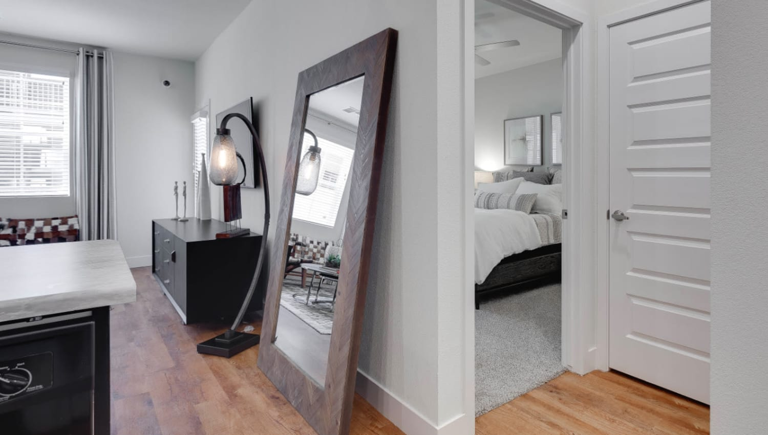 Open-concept layouts at Olympus Rodeo in Santa Fe, New Mexico