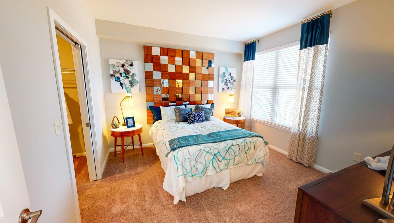Cozy bedroom at The Palmer in Charlotte, North Carolina