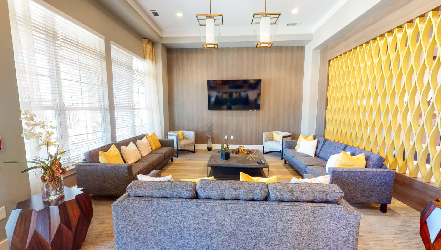 Lounge with plenty of seats at The Palmer in Charlotte, North Carolina