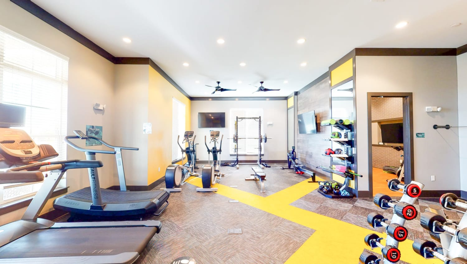 Fitness center at The Palmer in Charlotte, North Carolina