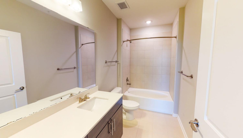 Spacious bathroom at The Palmer in Charlotte, North Carolina