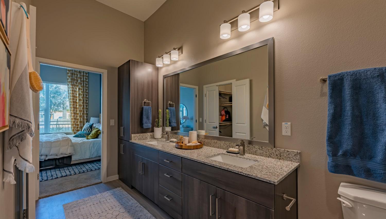 A large bathroom at The Tessera in Phoenix, Arizona