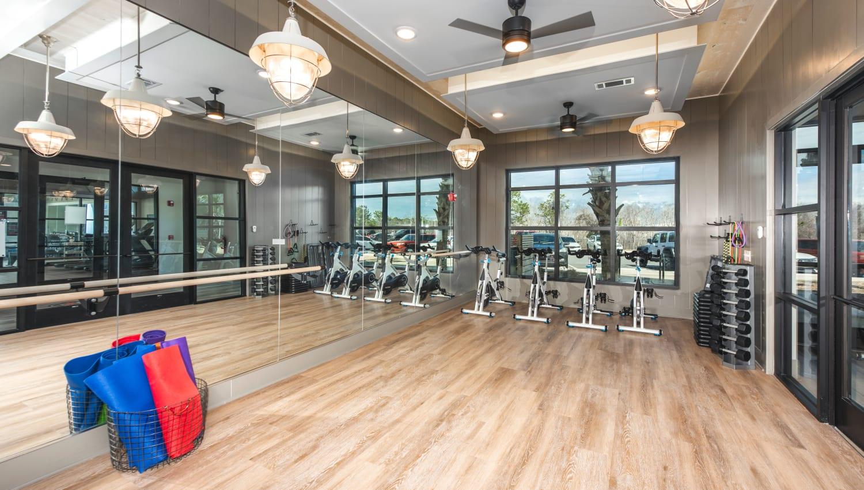A spin bike center at Olympus Emerald Coast in Destin, Florida