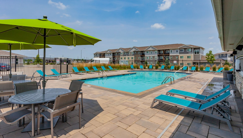 Resort-style swimming pool at Autumn Ridge in Waukee, Iowa