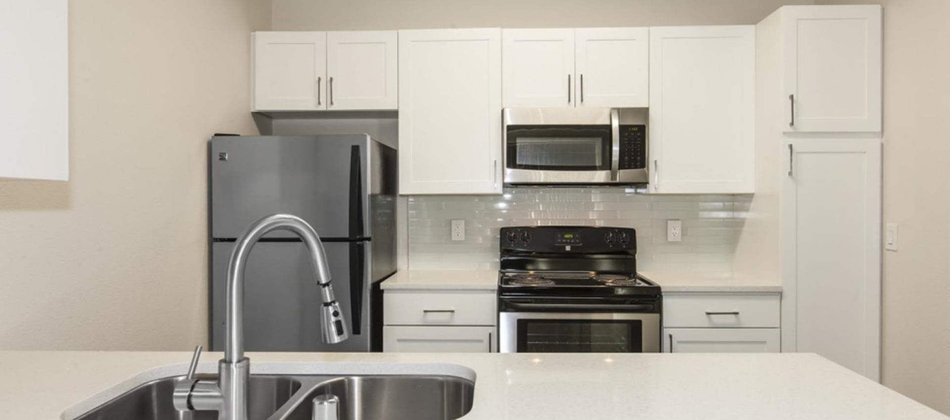 Stainless steel appliances at Park Central in Concord, California