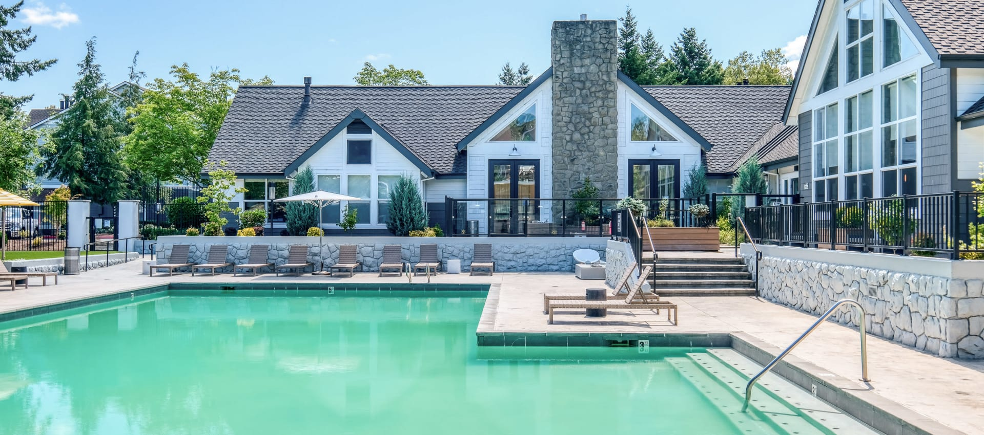 Swimming pool at Centro Apartment Homes in Hillsboro, Oregon
