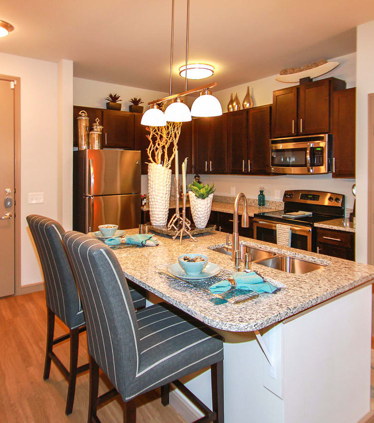 Model kitchen at Estates of Richardson