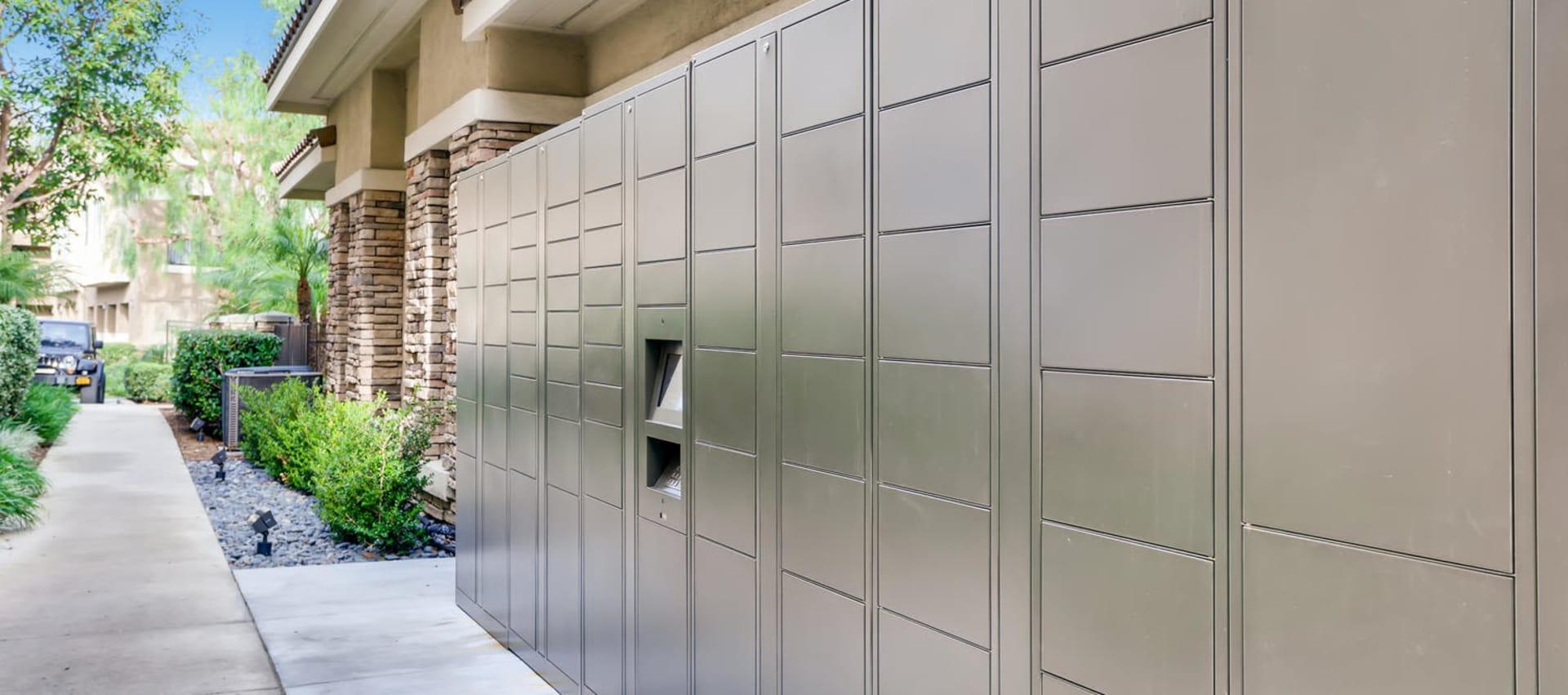 lockers at Alize at Aliso Viejo Apartment Homes in Aliso Viejo, California