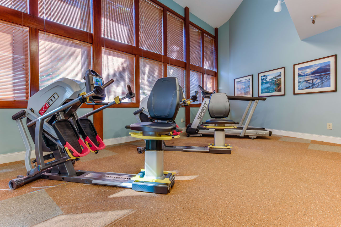 Fitness center at The Firs in Olympia, Washington