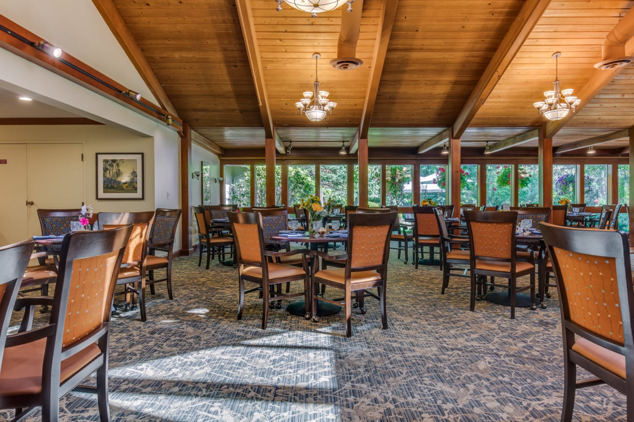 Dining area at The Firs in Olympia, Washington