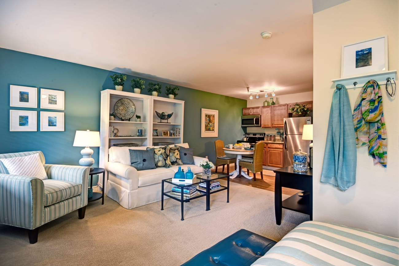 Living space at The Firs in Olympia, Washington