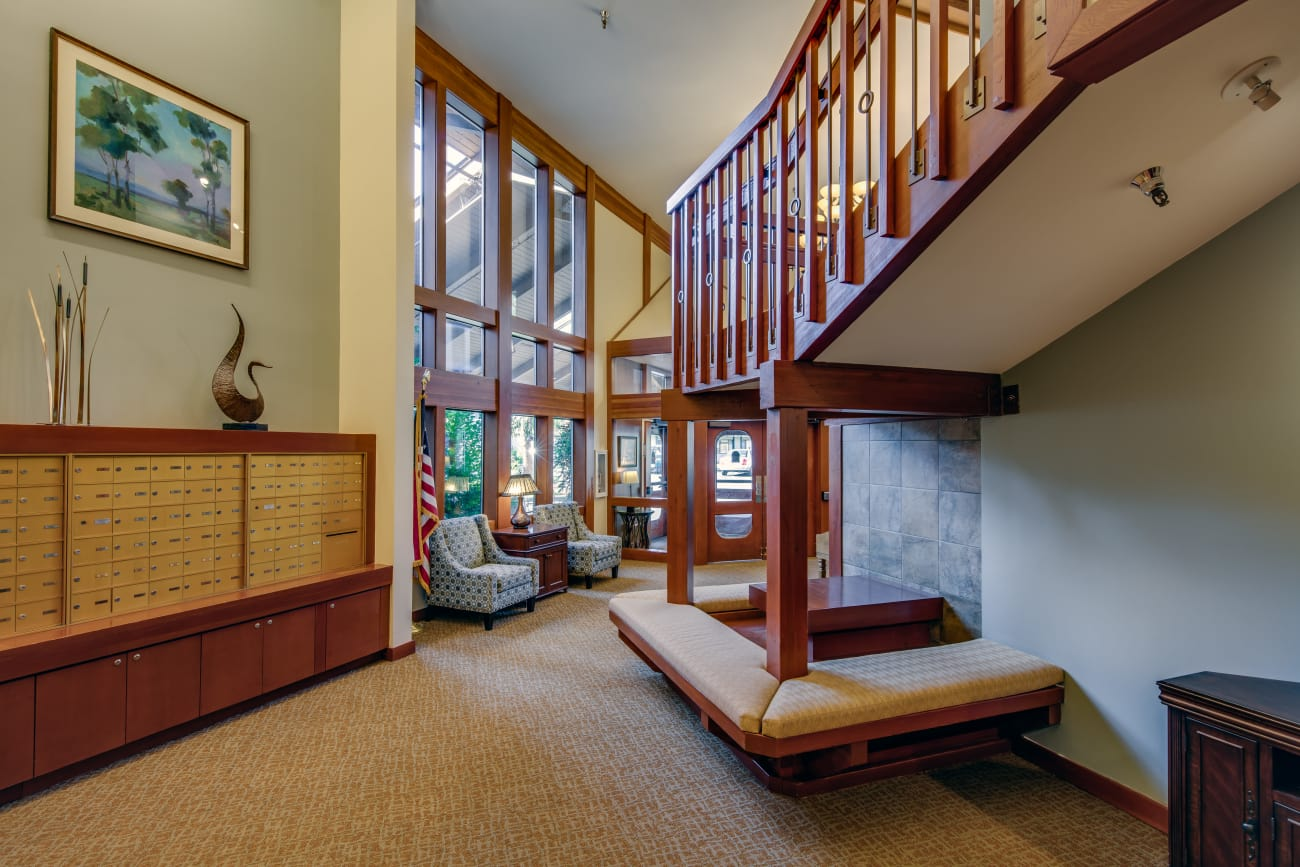 The Firs offers an elegant stairway in Olympia, Washington