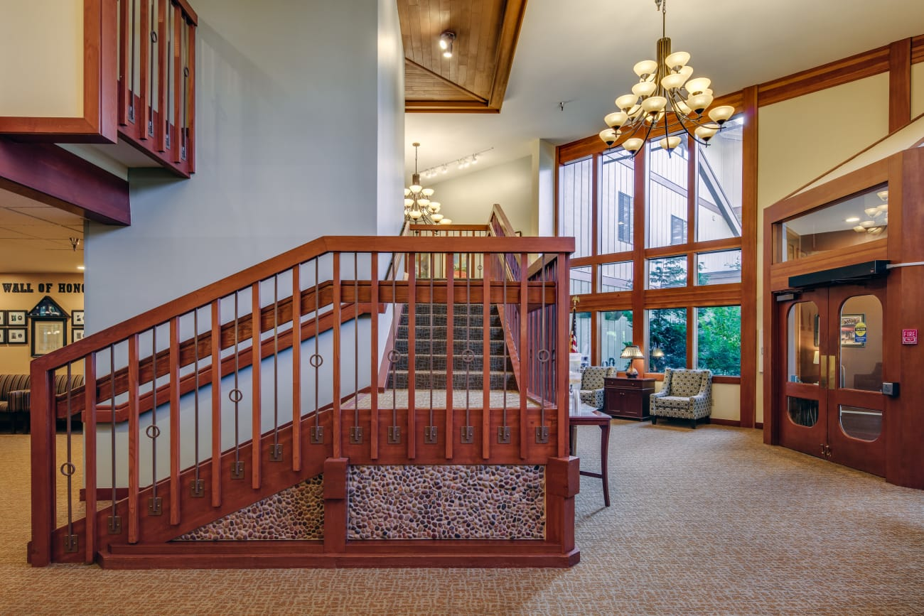 Stairway at The Firs in Olympia, Washington