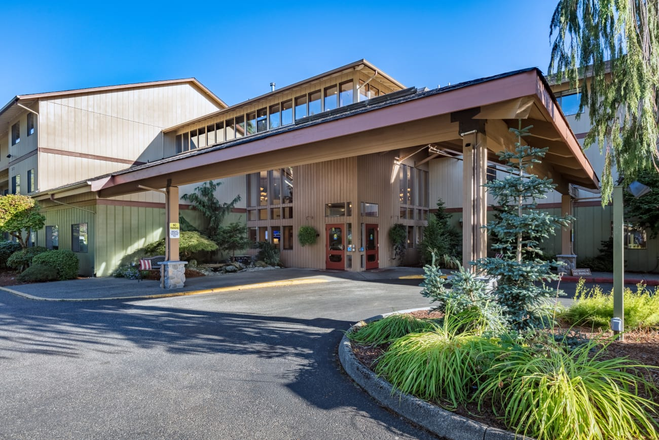 Front entrance at The Firs in Olympia, Washington
