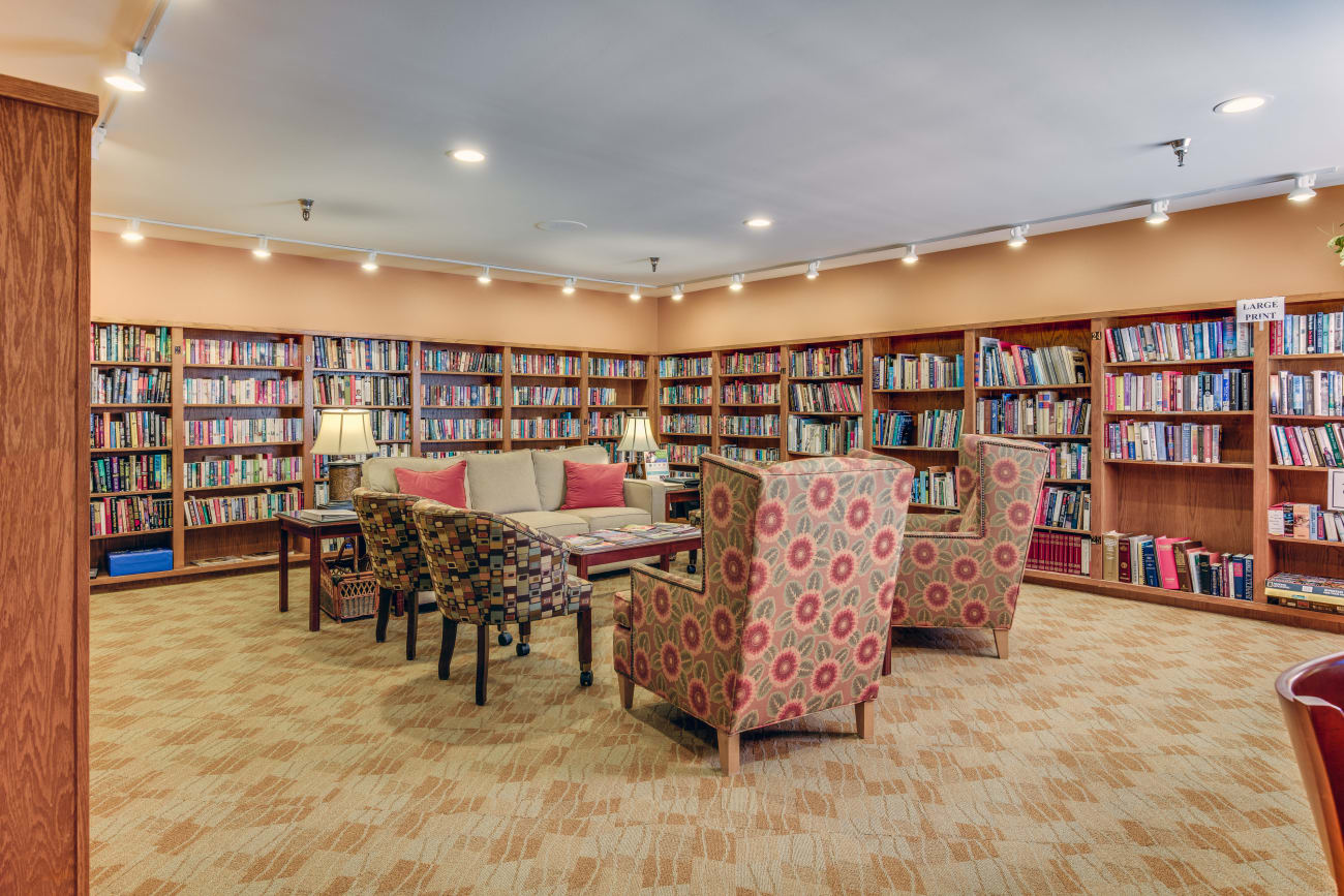 Library at The Firs in Olympia, Washington