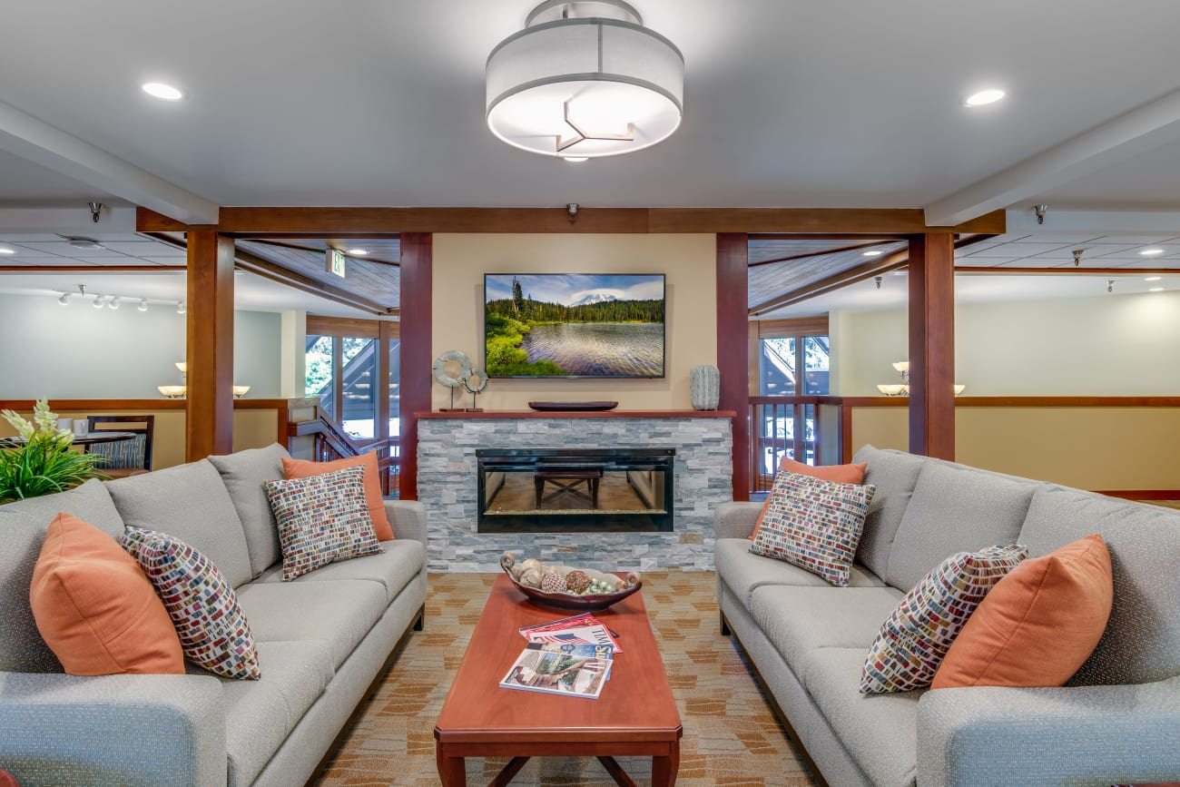 Common area at The Firs in Olympia, Washington