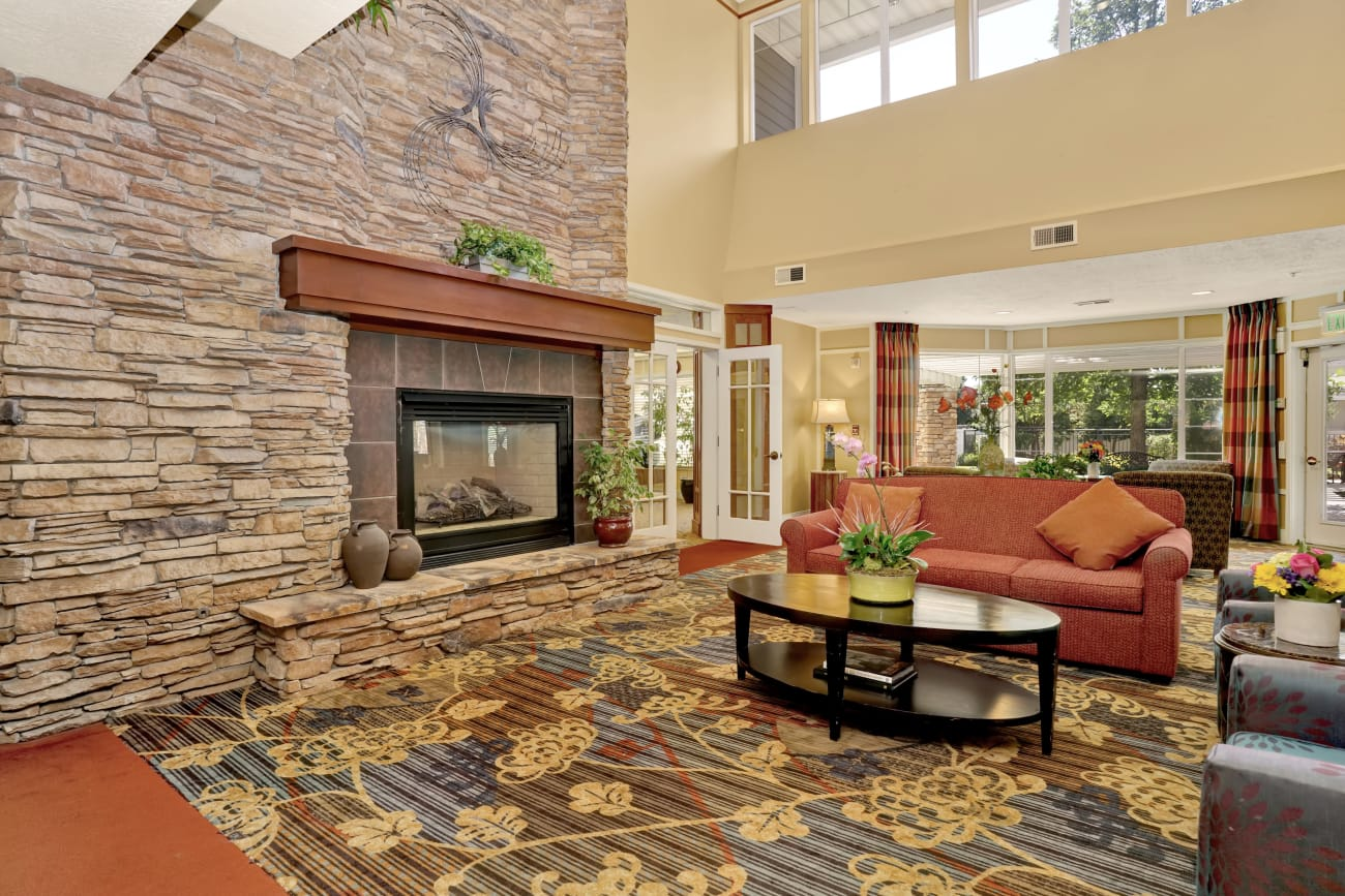 Fireplace at The Wellington in Salt Lake City, Utah