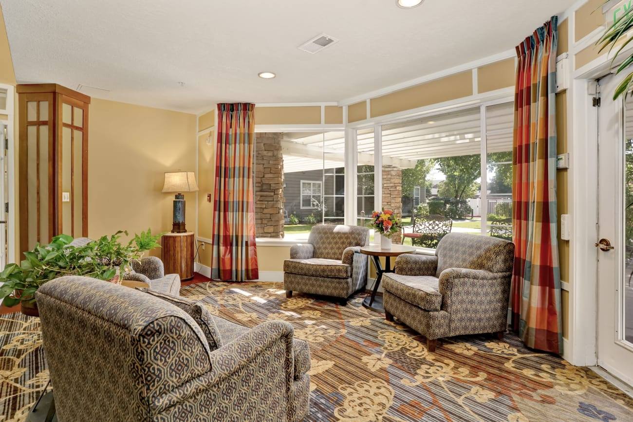 Our senior living community in Salt Lake City, Utah offer a common area