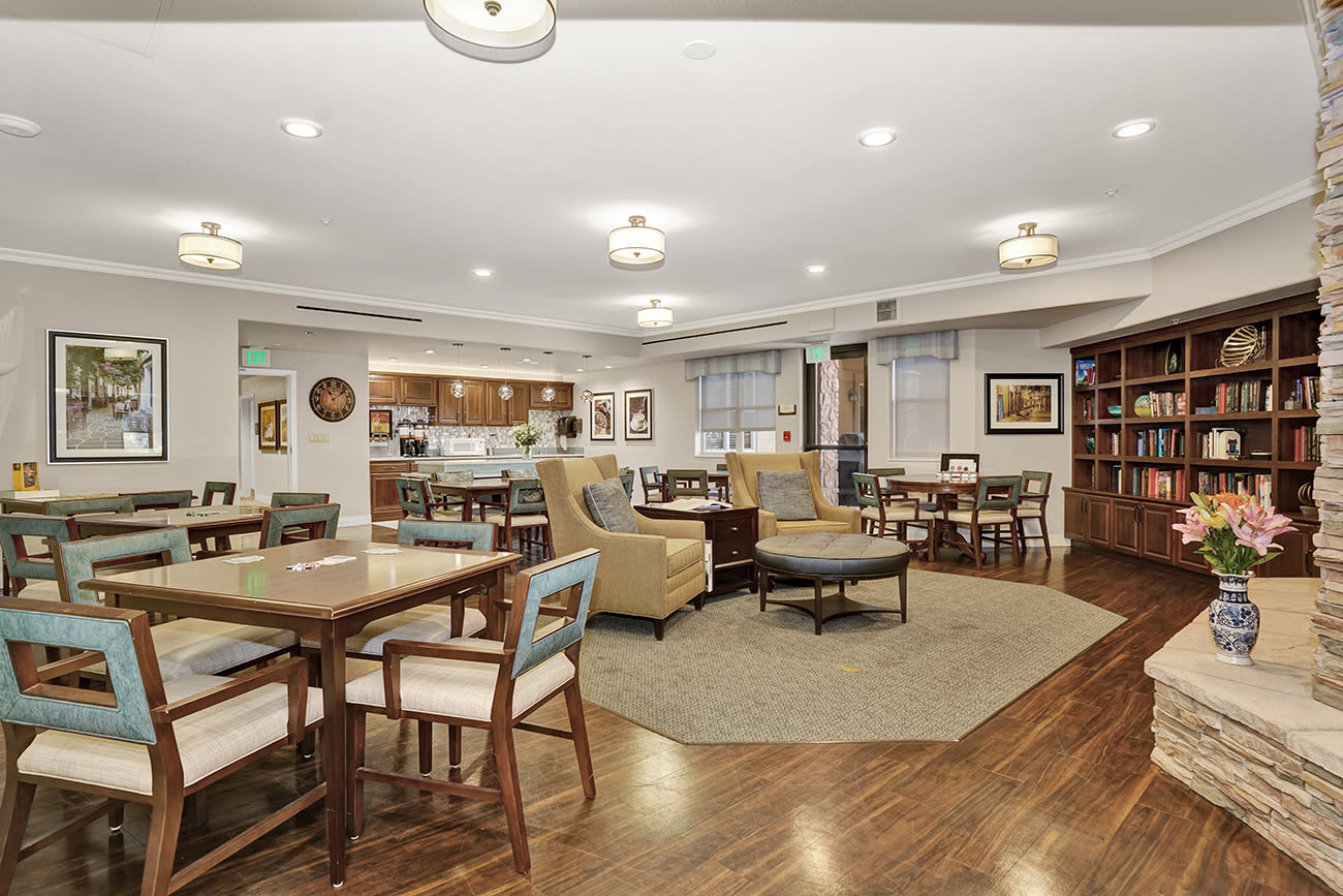 Common area at senior living community in Colorado Springs, Colorado