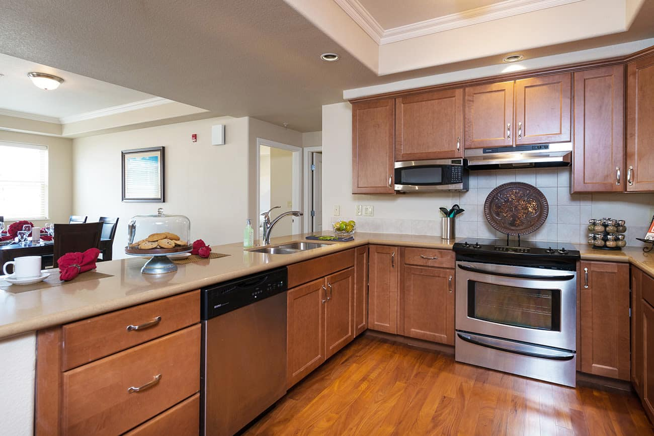 Ample counter space in a kitchen at The Palisades at Broadmoor Park'