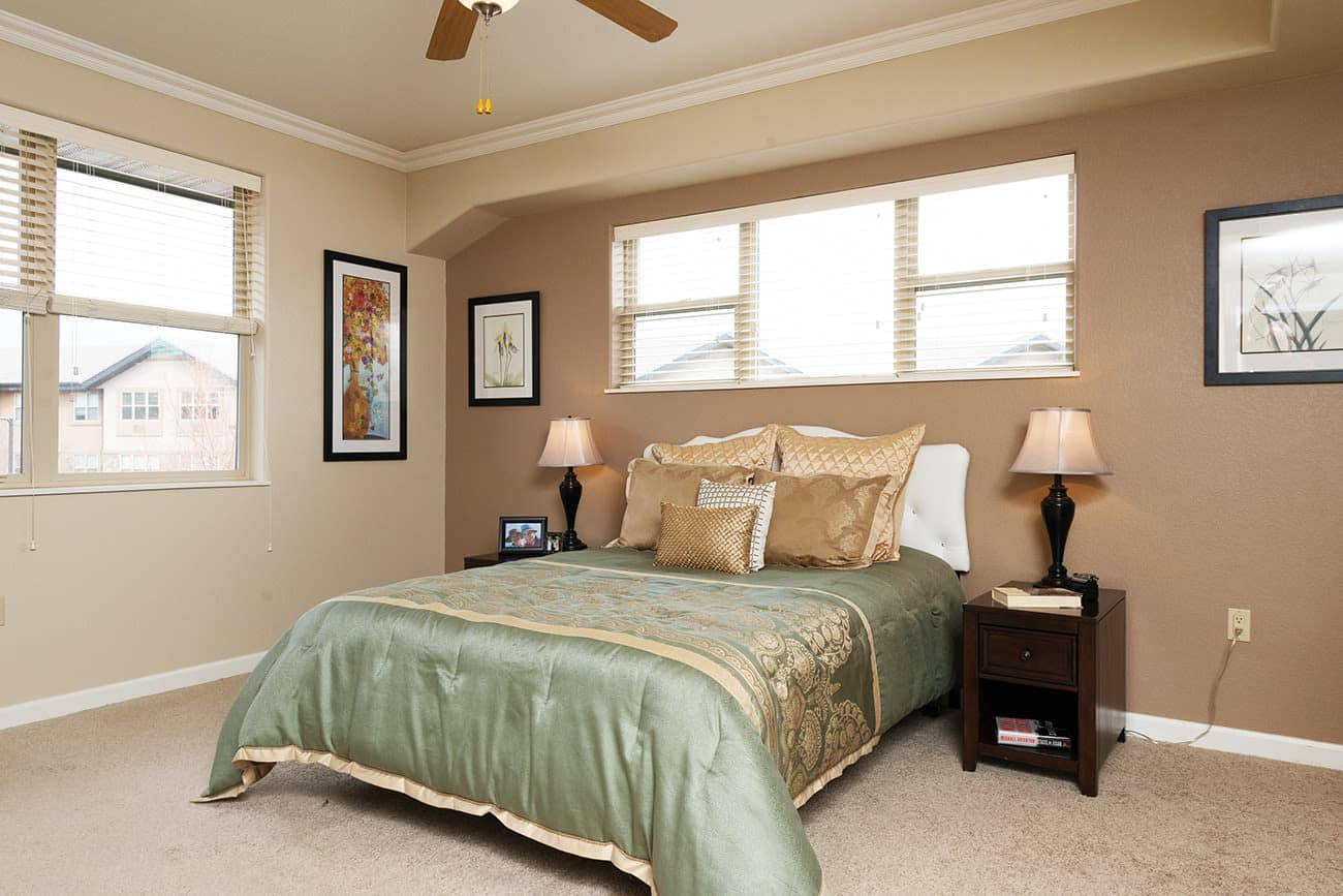 Master bedroom model at The Palisades at Broadmoor Park