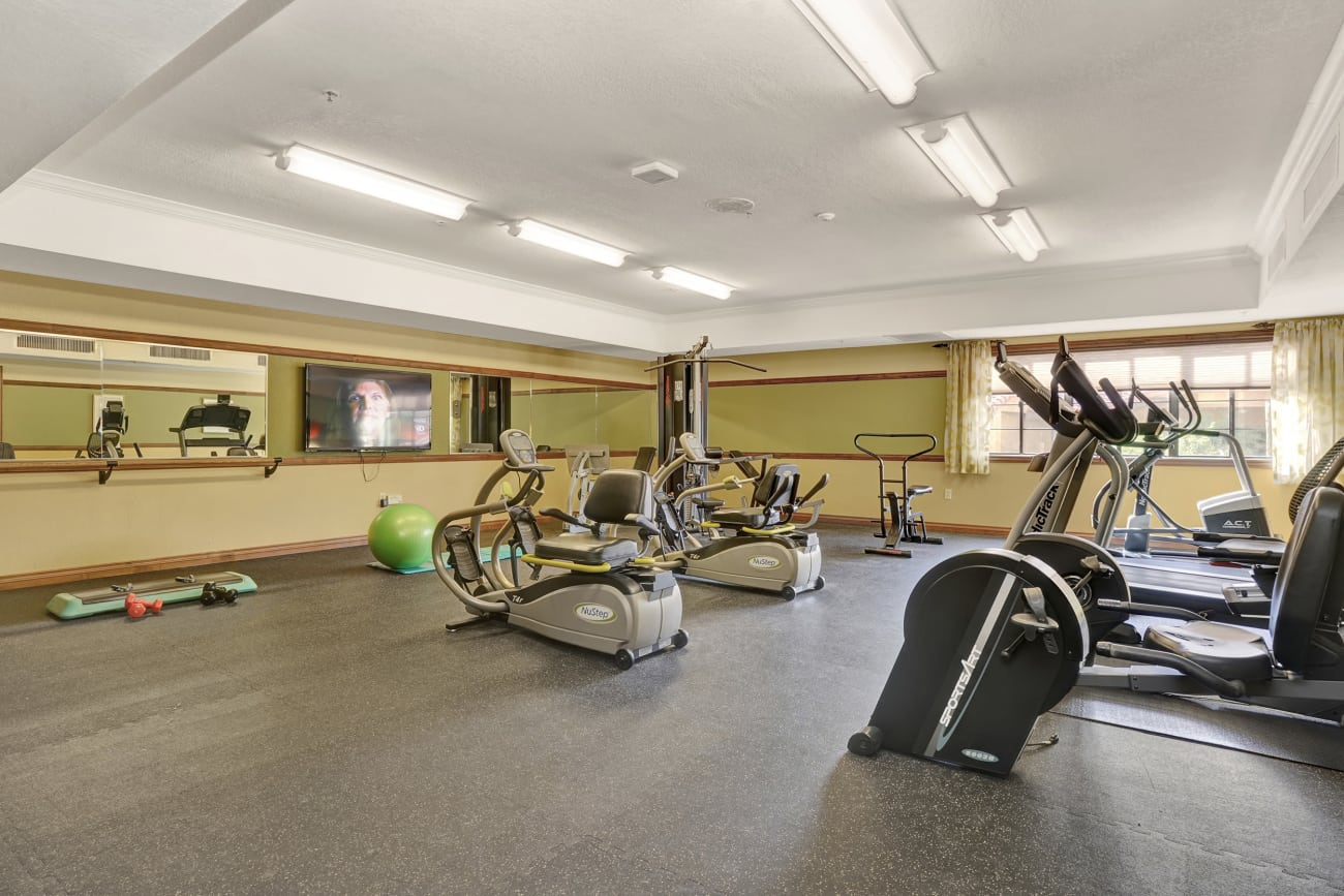 The fitness center at The Country Club of La Cholla in Tucson, Arizona