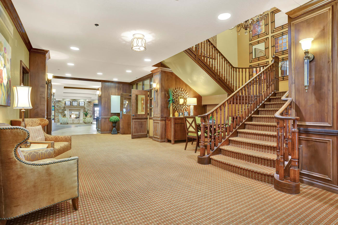 Hallway and staircase at The Country Club of La Cholla in Tucson, Arizona
