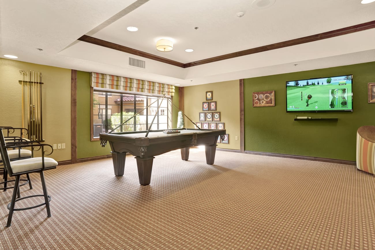 Billiards room at The Country Club of La Cholla