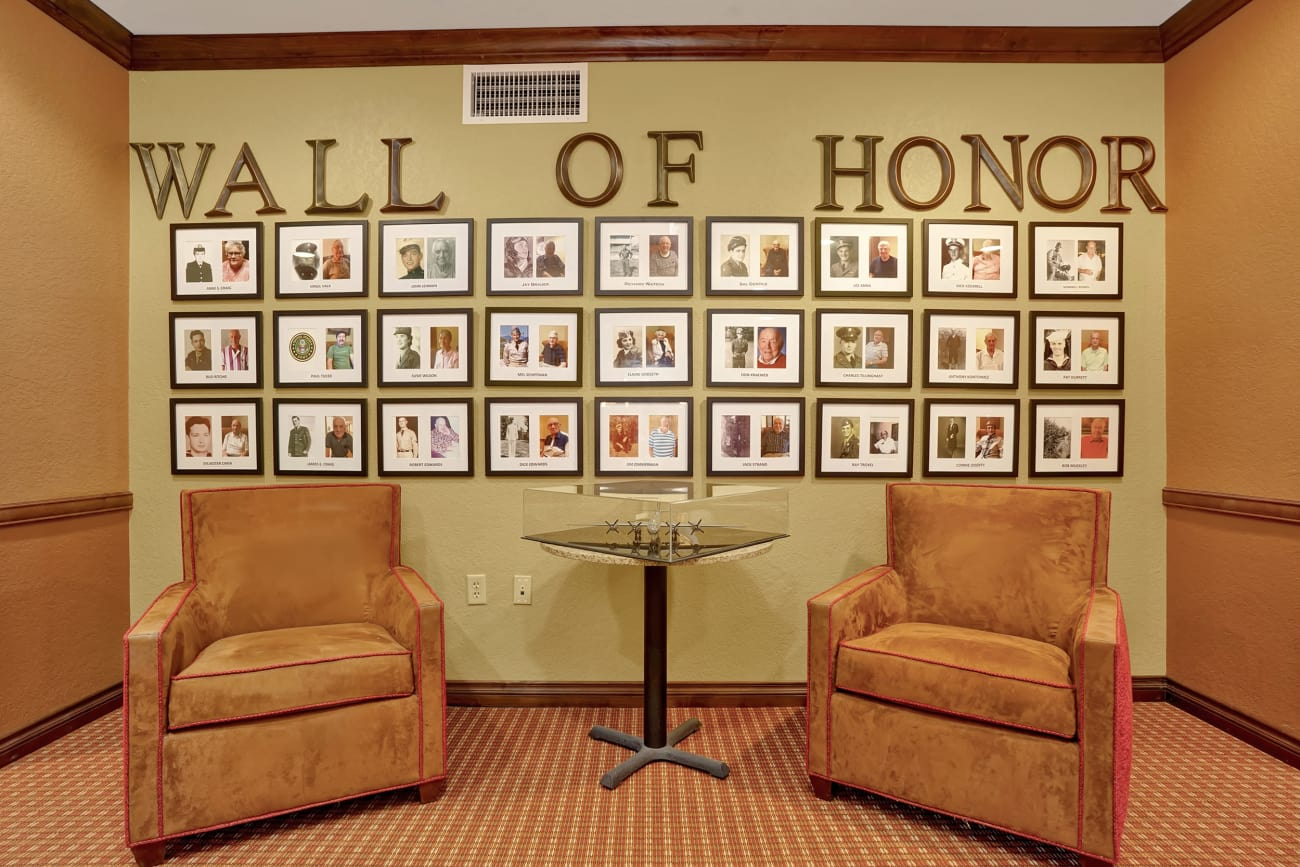 Veterans' Wall of Honor at The Country Club of La Cholla