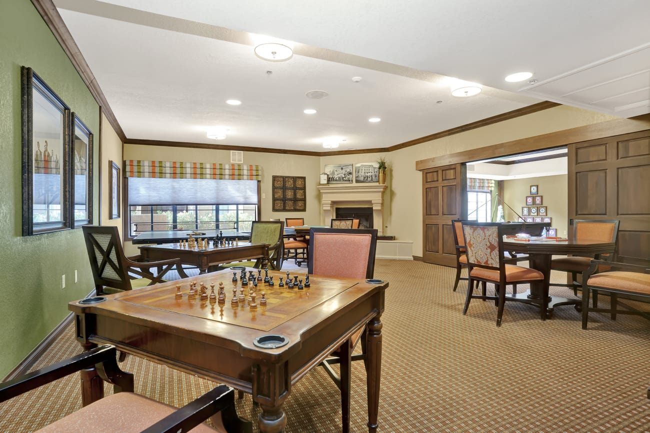 The game room at The Country Club of La Cholla