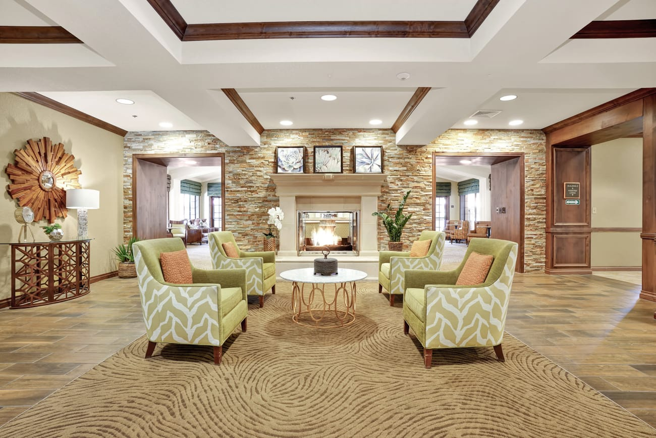 Seating area in the lobby at The Country Club of La Cholla