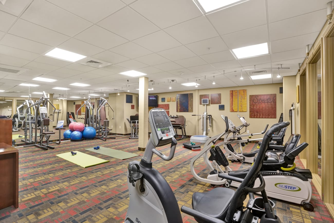 fitness room at McDowell Village