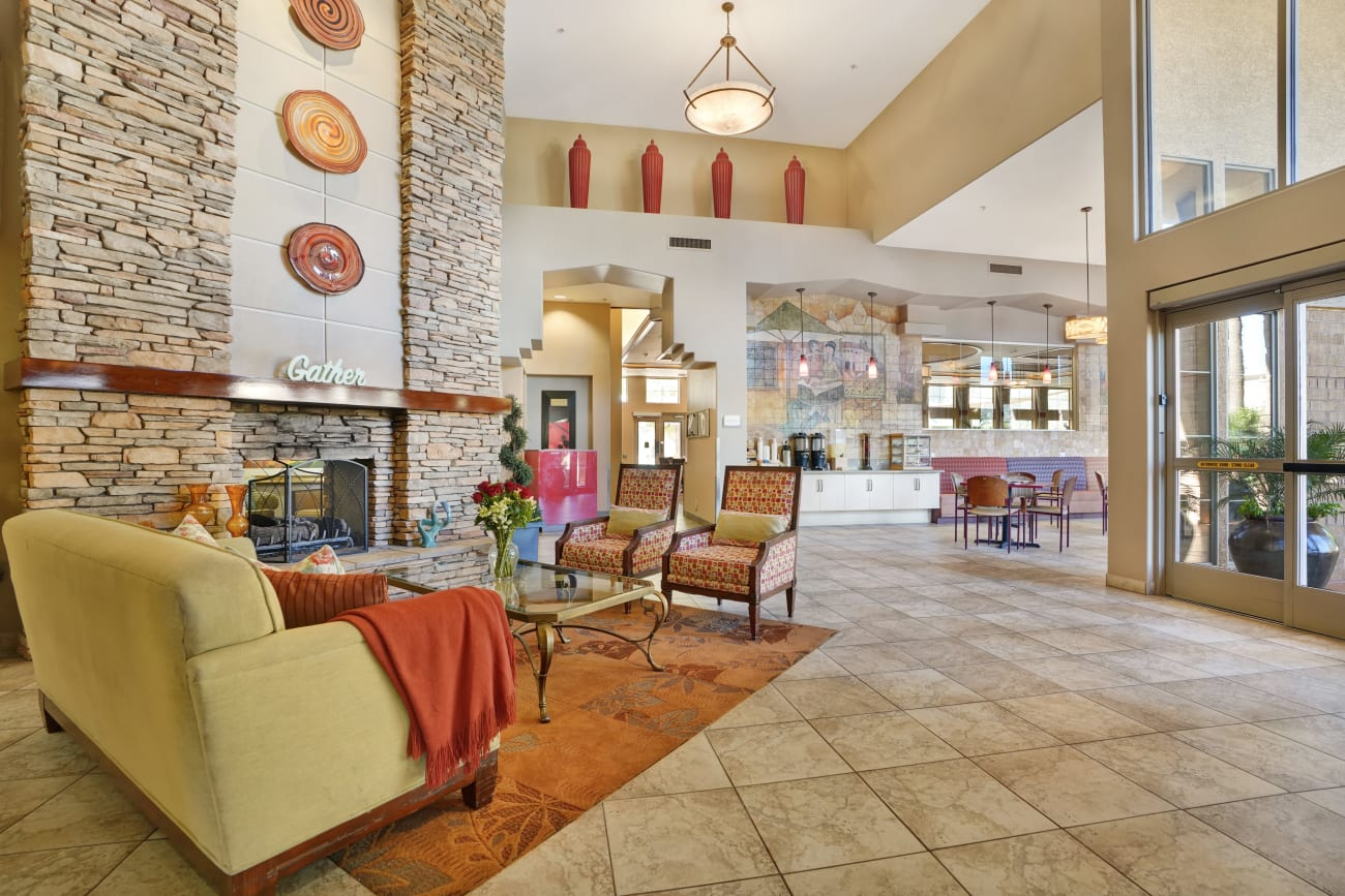 lobby at McDowell Village