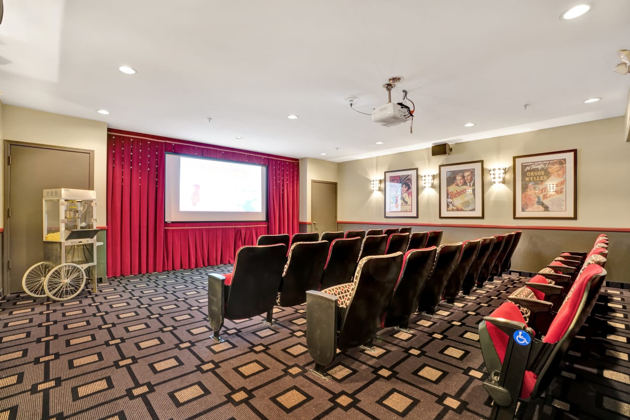 theater room at McDowell Village
