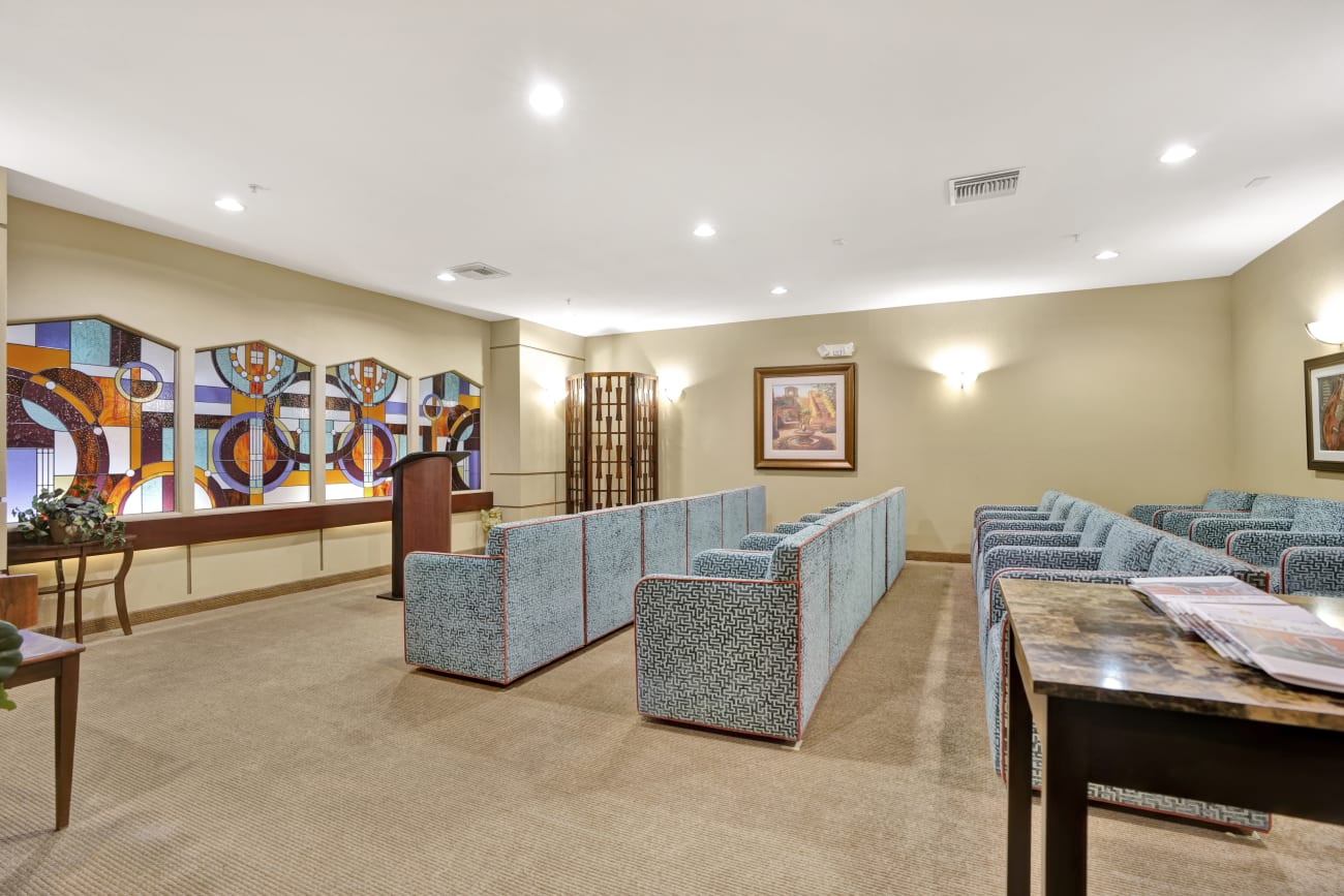 meeting area at McDowell Village