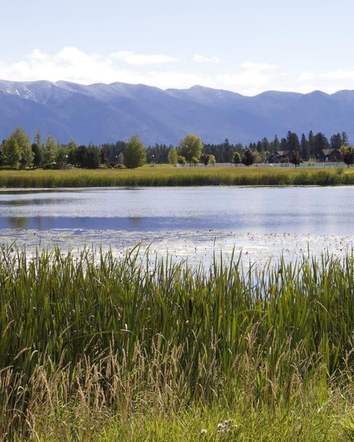 Walking Paths & Pond at The Springs at Whitefish in Whitefish, Montana