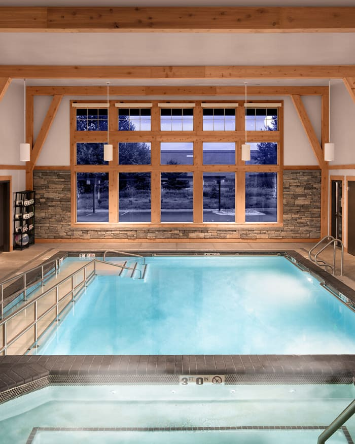 Indoor Heated Pool at The Springs at Bozeman in Bozeman, Montana