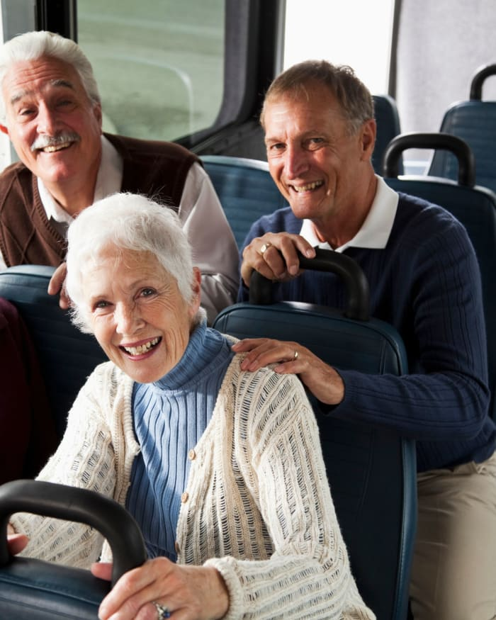 Residents smiling as being transported at The Springs at Sunnyview in Salem, Oregon