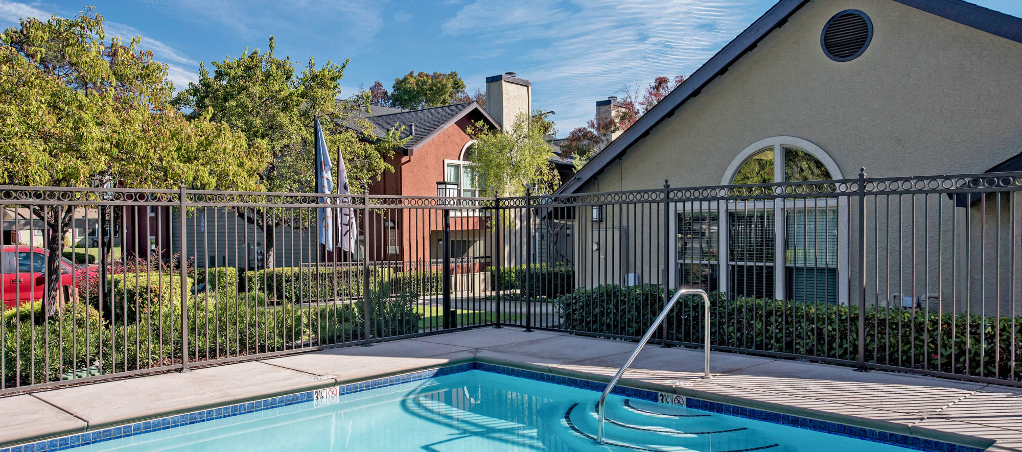 Pool and spa at Sterling Heights Apartment Homes in Benicia, California