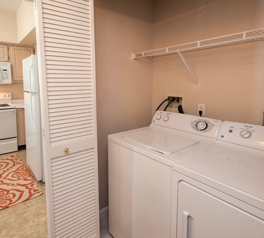 In-house washer and dryer at The Vintage at South Meadows Condominium Rentals in Reno, Nevada
