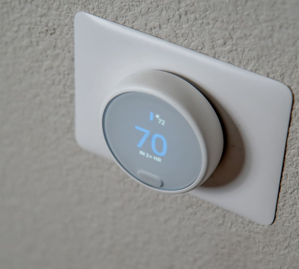 A nest for controlling the apartment temperature at Shaliko in Rocklin, California