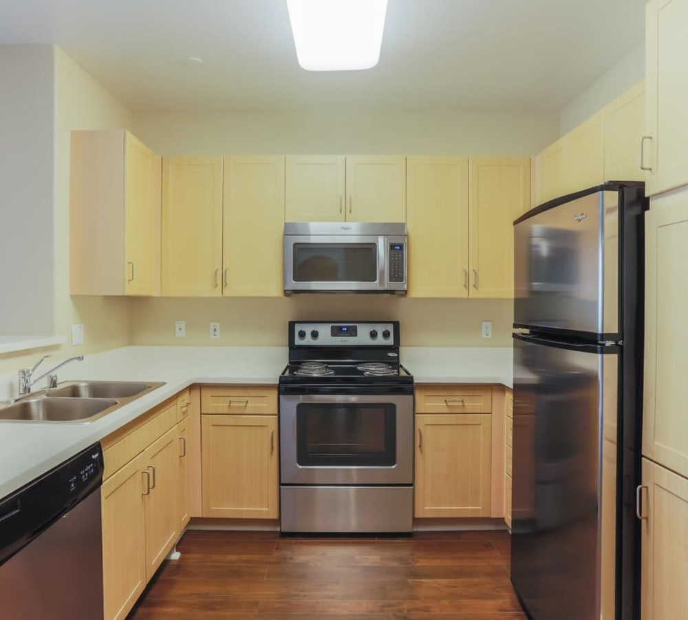 Kitchen with plenty of counter space at Park Central in Concord, California