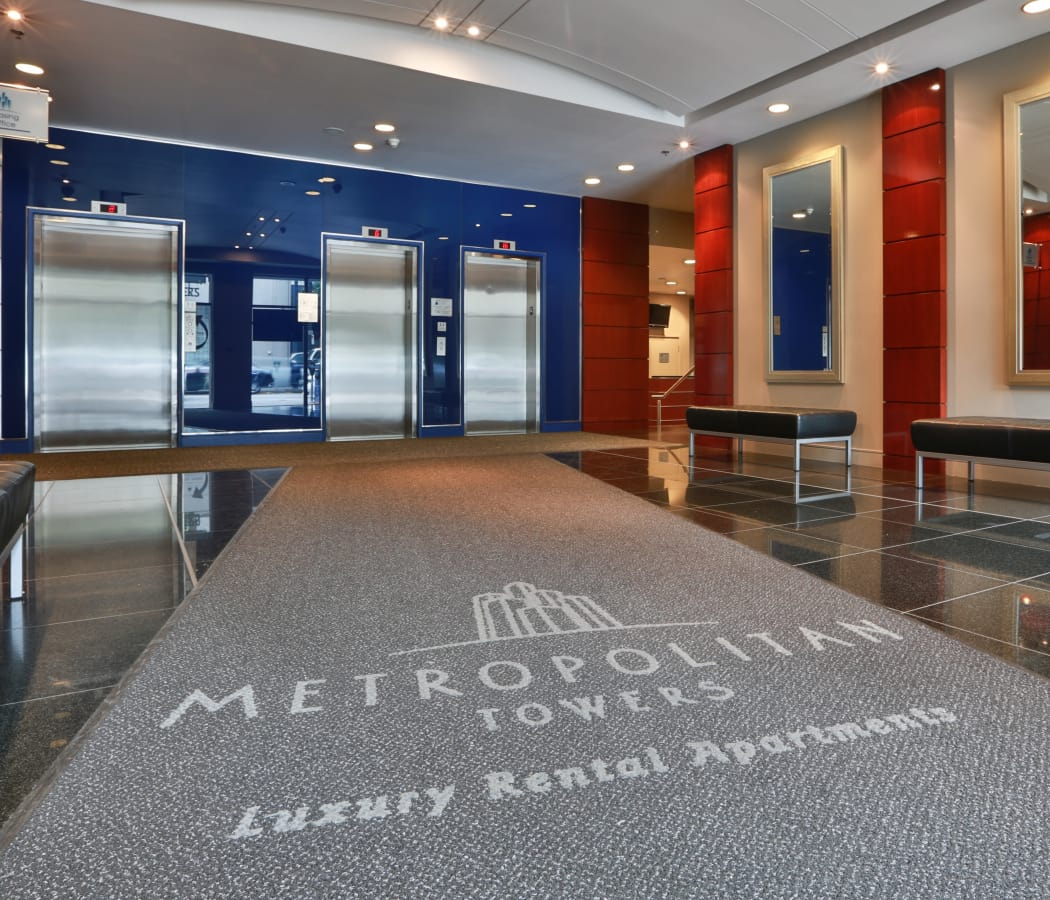 Elevators at Metropolitan Towers in Vancouver