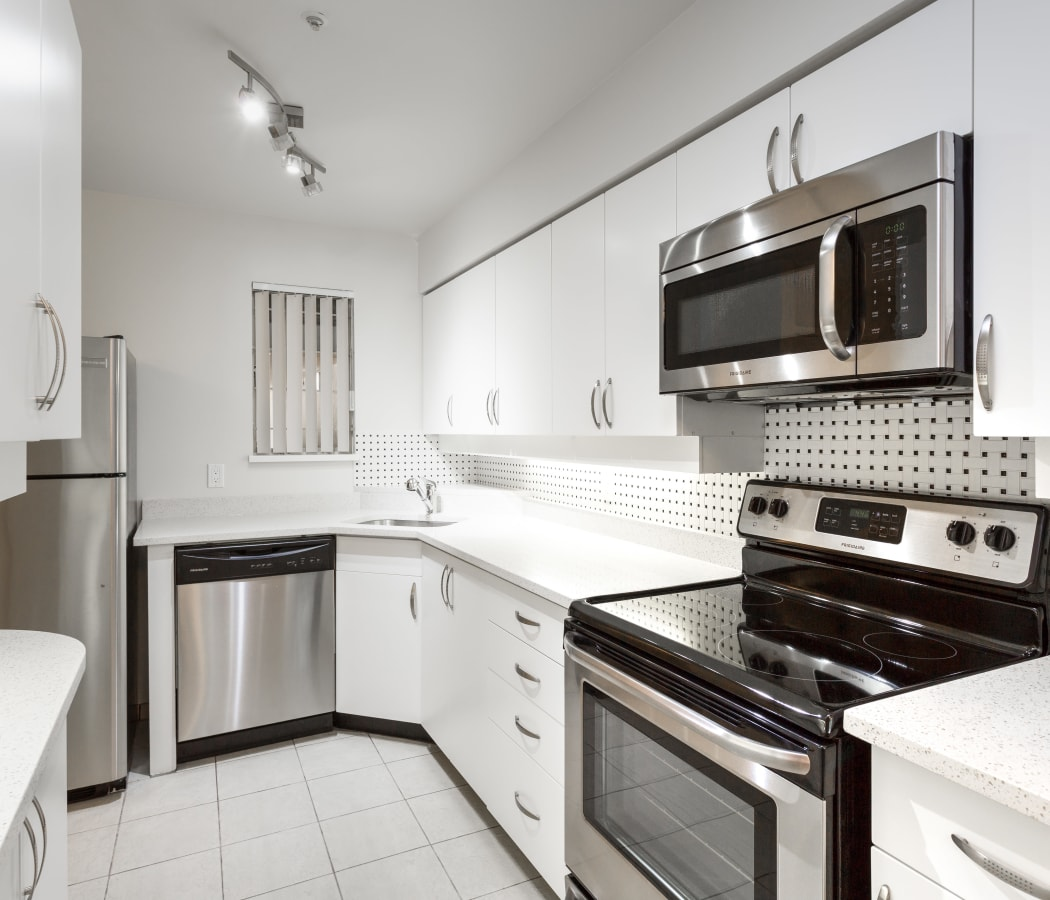 Large kitchen at Dunway Court in Vancouver